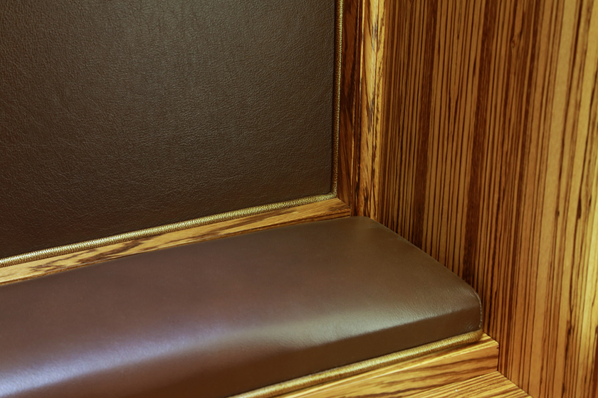 Gun Display Cabinet Photo 5 - Custom Leather Upholstery