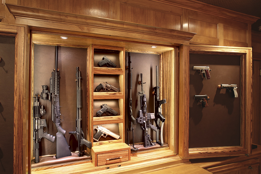 Gun Display Cabinet Photo 8 - Concealed LED Lighting