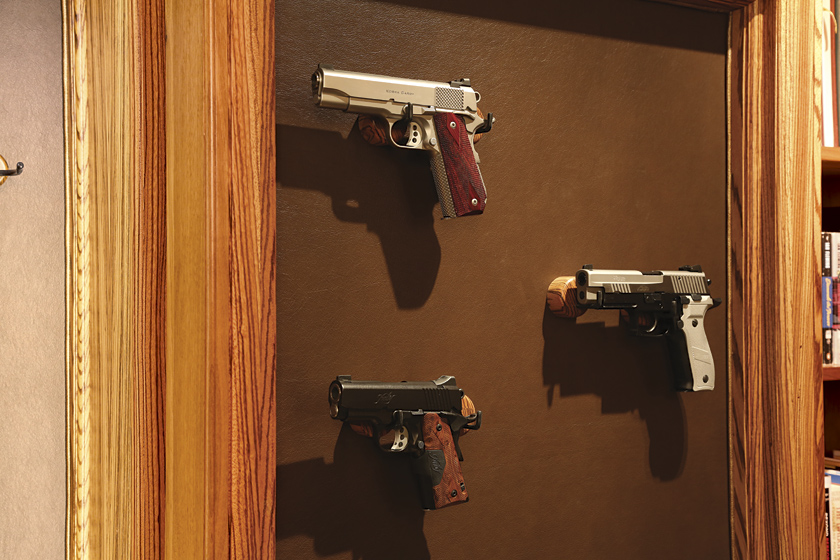 Gun Display Cabinet Photo 9 - Custom Magnetic Gun Supports