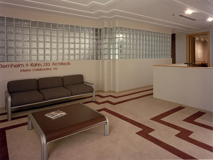 Architect's Offices & Studio Photo 2 - Pittsburgh Corning Glass Block, Custom Carpet and Ceiling Patterns