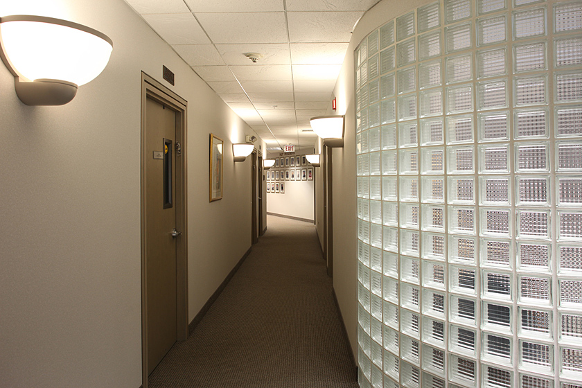 Synagogue Offices Photo 2 - Pittsburgh Corning Glass Block, Indirect Lighting